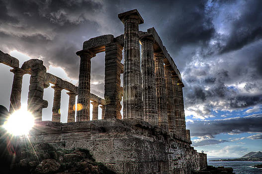 The Temple of Poseidon by Stamatis Gr