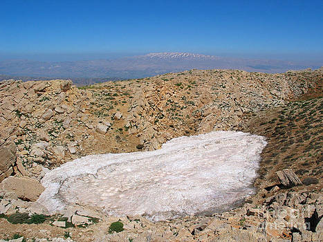 the un melted snow in Sannir mountains  by Issam Hajjar