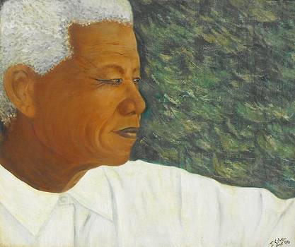The Visionary - Nelson Mandela by Jeanne Silver