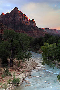 The Watchman of Zion in Alpenglow by Dave Sribnik