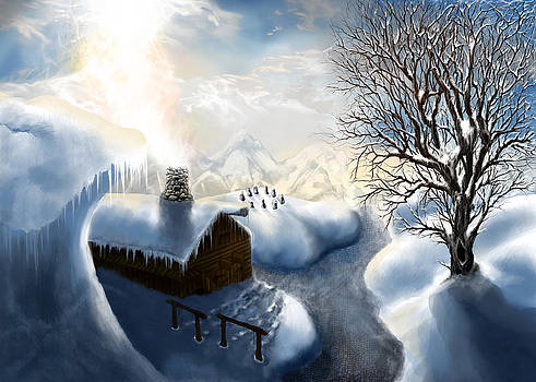 The Winter Cabin by Mythic Ink