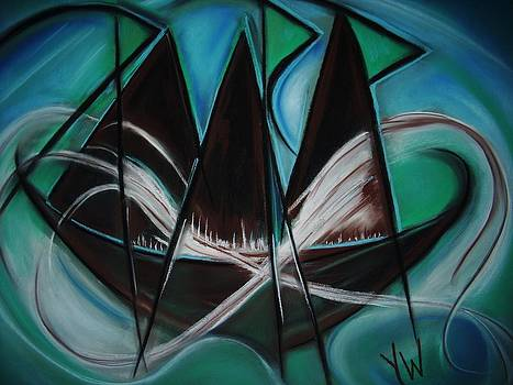 The Zen Sailboat by Gay Watters