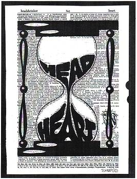 These Things Take Time Head Heart Hourglass by Kato Smock