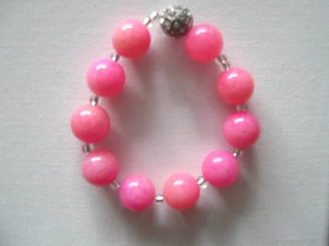 Think Pink Handmade Bracelet by Fatima Pardhan