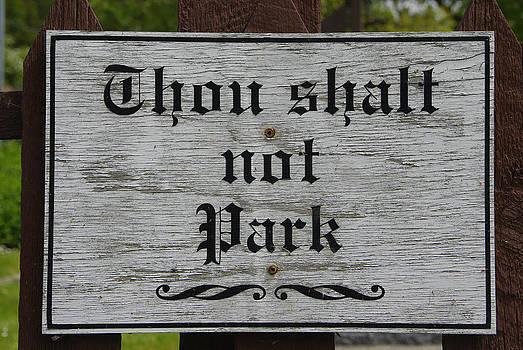 Marilyn Wilson - Thou Shalt Not Park