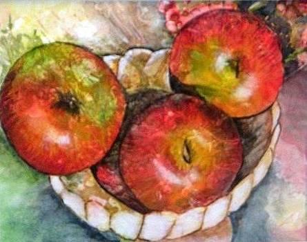 Three Apples by Marilyn Burke