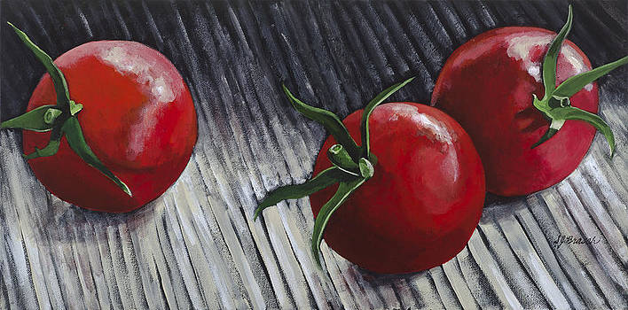 Three Cherry Tomatoes by Susan  Brasch