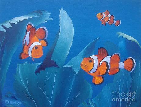 Three Clownfish by Michael Allen