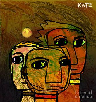 Three Friends Of South Flores by Daniel Katz