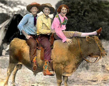 Three On A Bull by JDon Cook