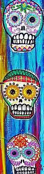 Three Sugar Skulls by Nancy Mitchell