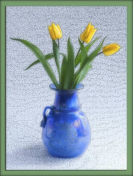 Three Tulips and Vase by George Hodlin