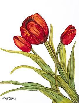 Three Tulips by Lisa  Marsing