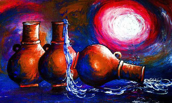 Three Vases by Artist Singh