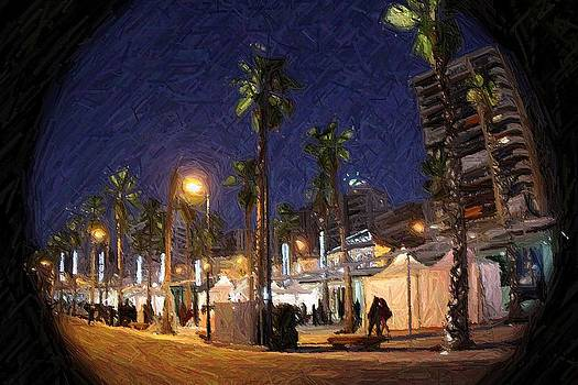 through the spyglass nightfall in Malaga by Shiladitya Sinha