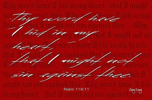 Thy Word by Greg Long
