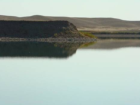 Tiber Lake Reflections 2 by Sandi Owens