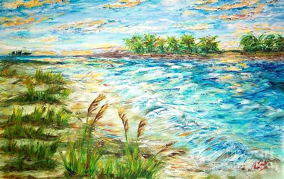 Tides At Sunset by Mary Sedici