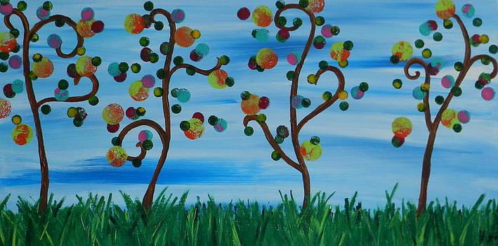 Tie Dye Trees by Heather  Hubb