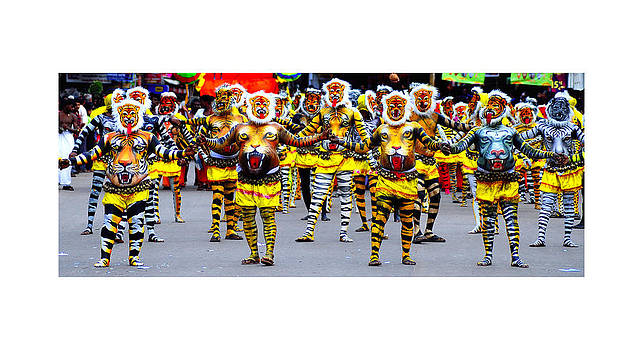 Tiger Dance In Thrissur District Of Kerala Southern Indian State by Pradeep Subramanian