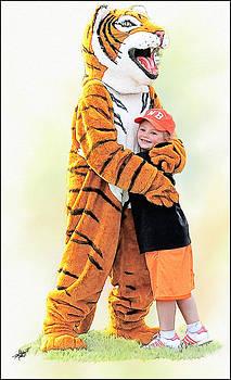 Tiger Hug by Tom Schmidt