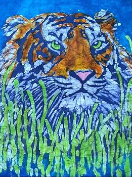 Tiger in the Grass by Jill Tsikerdanos