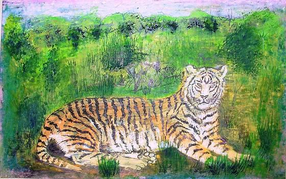 Tiger by Jitendra Gavali