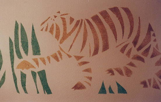 Tiger stencil by Rebecca Lilley