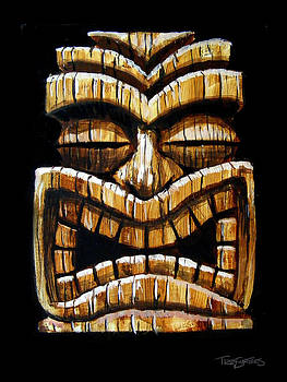 Tiki Head by Trey Surtees