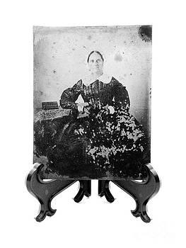 Kathleen K Parker - Tintype Circa 1855-1900 Vintage