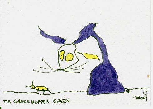 Tis Grasshopper Green by Tis Art
