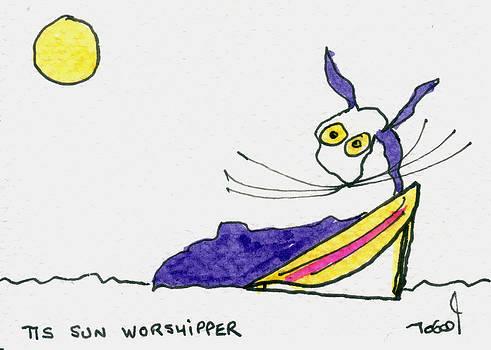 Tis Sun Worshipper by Tis Art