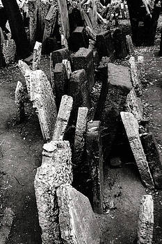 Tombstones Old Jewish Cemetery Prague by Sharon Kalstek-Coty