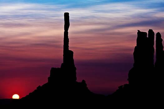 Sylvia J Zarco -  Sun dawns at Totem Pole