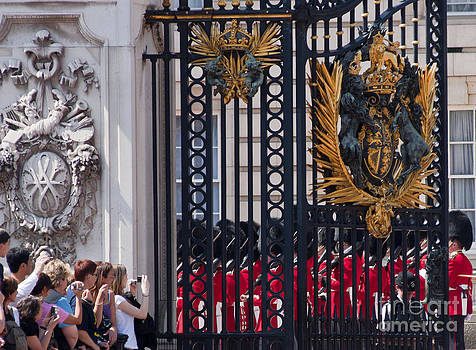 Tourists at Changing of the guards by Andrew  Michael