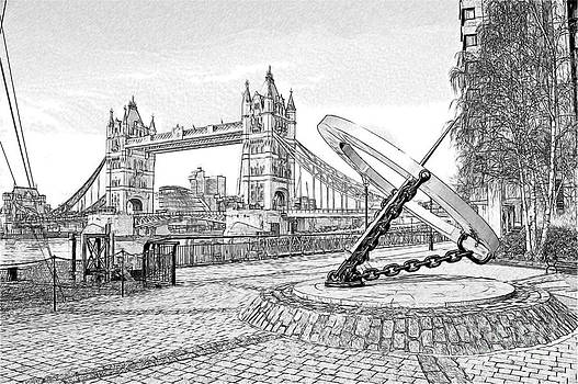 Tower Bridge Sketch by Donald Davis