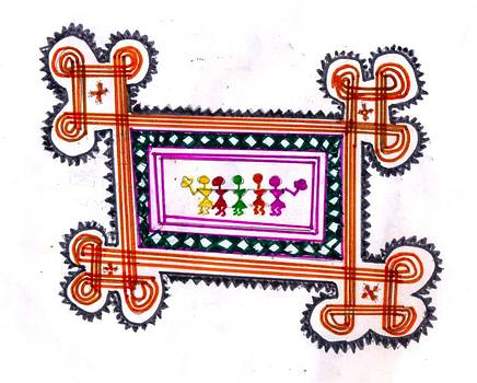 Tradition Art-aunties In Rangoli by Poornima M