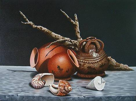 Traditional Fijian Potteries by Pravin  Sen