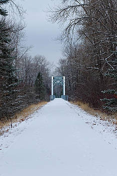Trail Bridge in Winter Photograph by Light Shaft Images