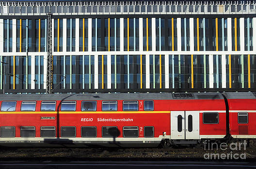 Train abstract by Andrew  Michael