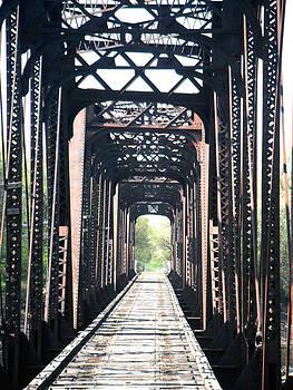 Jon Baldwin  Art - Train Bridge Des Moines Iowa