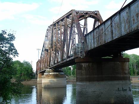 Train Bridge by Michelle Worring