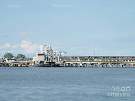 Train bridge over the bay by Laurence Oliver