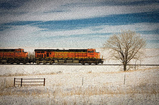 Train in the Flint Hills  by Bret D Rouse