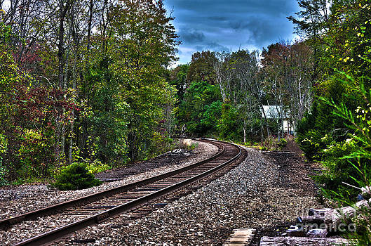 Train tracks just passing through in HDR by Robert Wirth