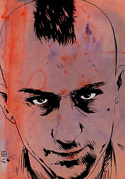 Travis Bickle Taxi Driver by Giuseppe Cristiano