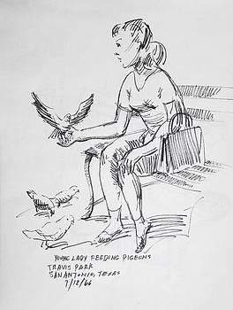 Travis Park Pigeons by Aileen Markowski