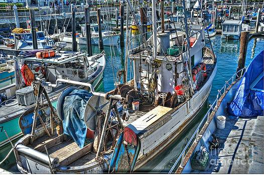 Trawler in Santa Barbara by Steve Nelson