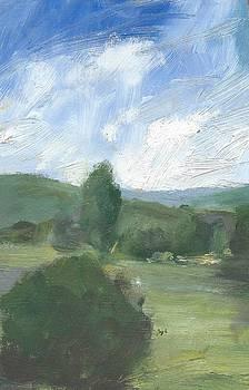 Trees against the Deep Summer Sky by Alan Daysh