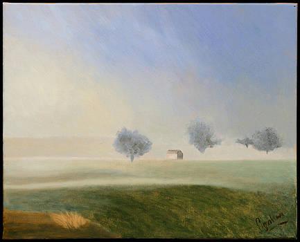 Trees in the Mist by Gloria Cigolini-DePietro